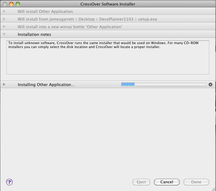 install status bar
